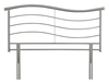 Serene Waverly 4'6 Double Silver Metal Headboard