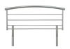 Serene Brennington 4'6 Double Silver Metal Headboard