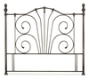 Serene Jessica 4'6 Double Antique Nickel Metal Headboard