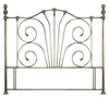 Serene Jessica 4'6 Double Antique Brass Metal Headboard