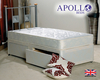 Apollo Ortho Damask 3' Single Orthopaedic Coil Sprung Divan Bed