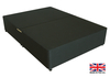 2'6 Small Single Black Fabric Platform Top Divan Bed Base - Drawer Options Available