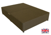 2'6 Small Single Brown Fabric Platform Top Divan Bed Base - Drawer Options Available