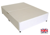 2'6 Small Single White Fabric Platform Top Divan Bed Base - Drawer Options Available