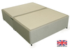 2'6 Small Single Beige Fabric Platform Top Divan Bed Base - Drawer Options Available