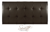 Romana 6' Super King Size Brown Faux Leather Headboard