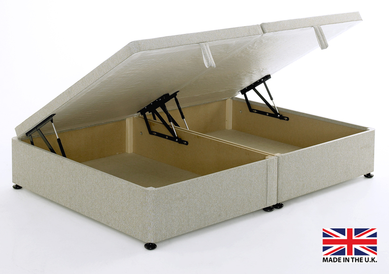 Storage divan bed base side opening 334 95 price includes for Cheap king size divan beds with storage