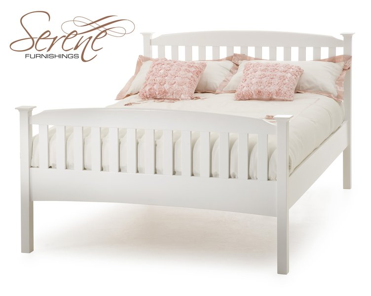 White Wood King Size Bed Frame 752 x 600
