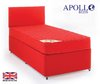 Apollo Rainbow 3' Single Kids Cotton Coloured Coil Sprung Divan Bed