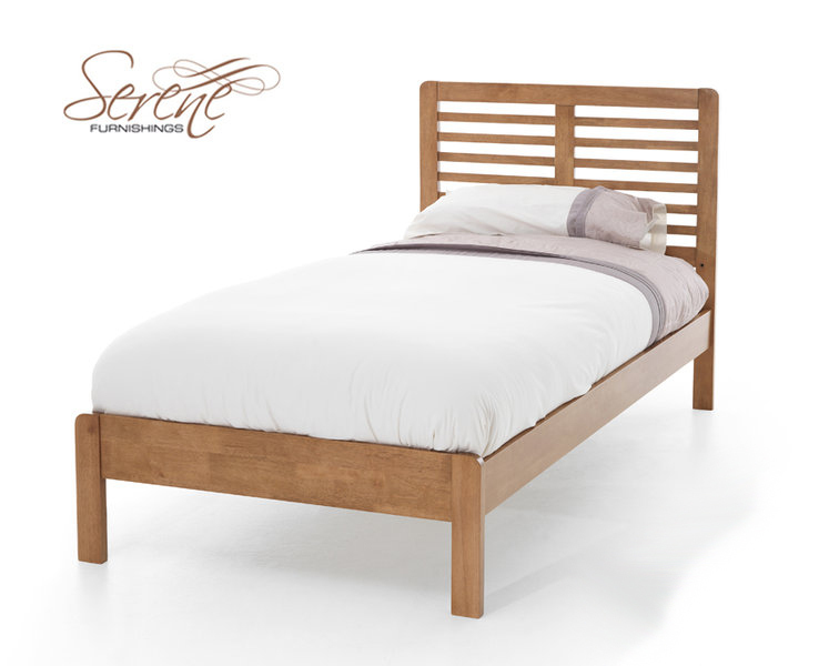 Serene esther 3 single honey oak wooden bed frame