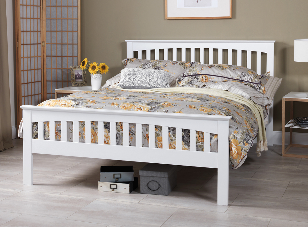 White King Size Bed Frame 984 x 724